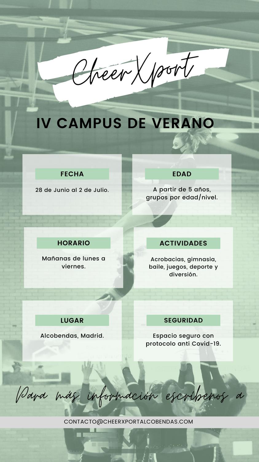 Información sobre el campus de cheerleading